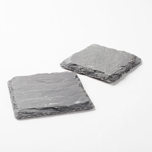 "Richland Square Natural Slate Coaster 4"" Set of 12"