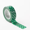Richland Washi Tape Green Polka Dot 30 Feet
