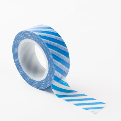 Richland Washi Tape Blue Stripe 30 Feet Set of 5