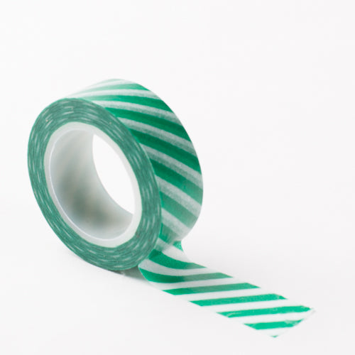 Richland Washi Tape Green Stripe 30 Feet Set of 5