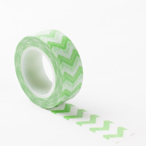 Richland Washi Tape Green Chevron 30 Feet Set of 5