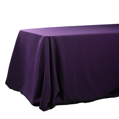 "Richland Rectangle Tablecloth 90""x132"" Purple"