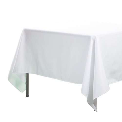 "Richland Square Tablecloth 70""x70"" White Set of 10"