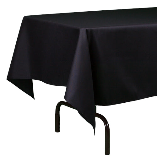"Richland Rectangle Tablecloth 60""x126"" Black"