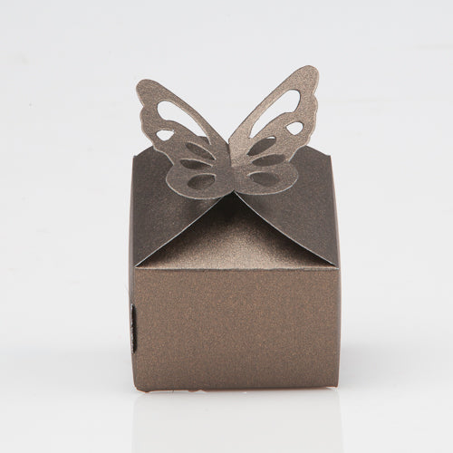 Richland Pearl Chocolate Butterfly Top Favor Box Set of 100
