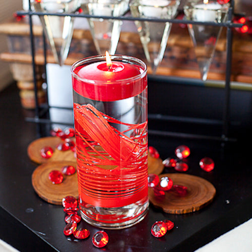 "Richland Floating Candles 3"" Red Set of 72"
