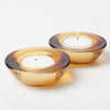 Eastland Chunky Tealight Candle Holder Amber Set of 12