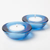 Eastland Chunky Tealight Candle Holder Blue Set of 12