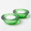 Eastland Chunky Tealight Candle Holder Green Set of 12