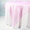 "Richland 72"" x 72"" Fuchsia Blue Organza Table Overlay"
