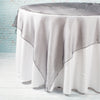 "Richland 72"" x 72"" Black Organza Table Overlay Set of 10"