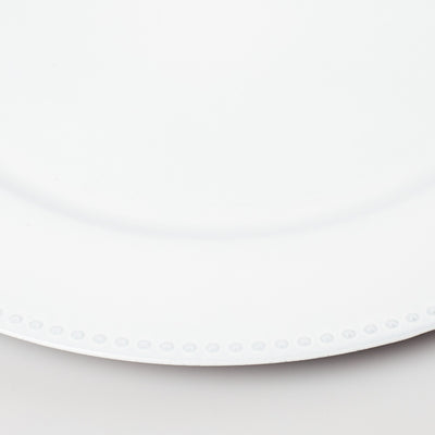 richland beaded charger plate 13 white set of 48