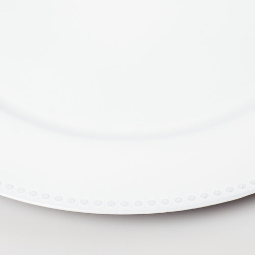 "Richland Beaded Charger Plate 13"" White"