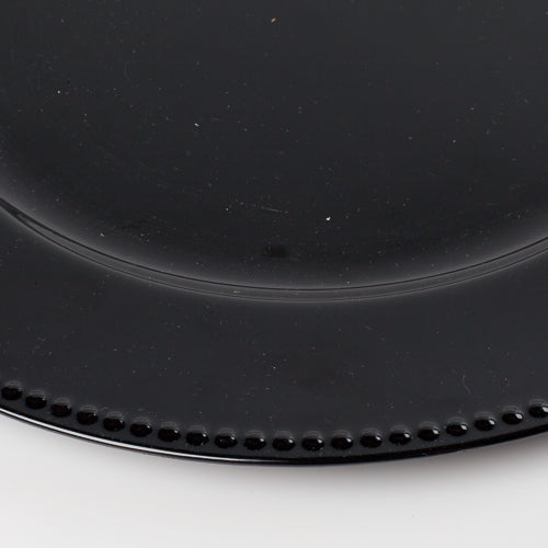 "Richland Beaded Charger Plate 13"" Black Set of 48"