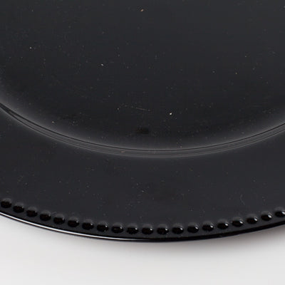 richland beaded charger plate 13 black set of 24
