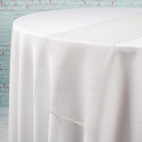 "Richland 12""x108"" Silver Organza Table Runner Set of 10"