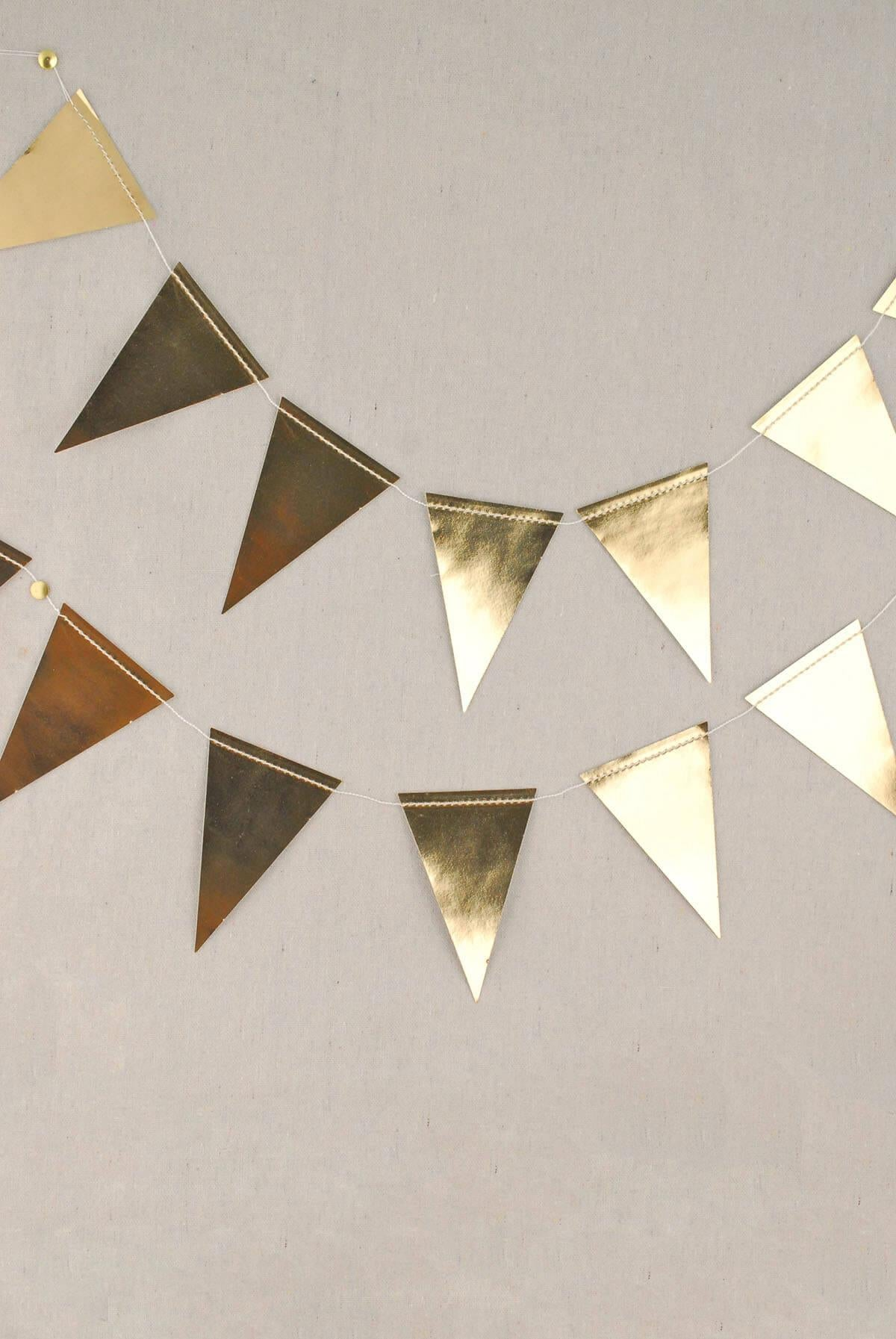 Gold Foil Mini Pennant Banner 8', My Minds Eye