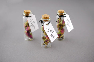 Mini Glass Bottles with Cork 20ml 2.65in (Pack of 12)
