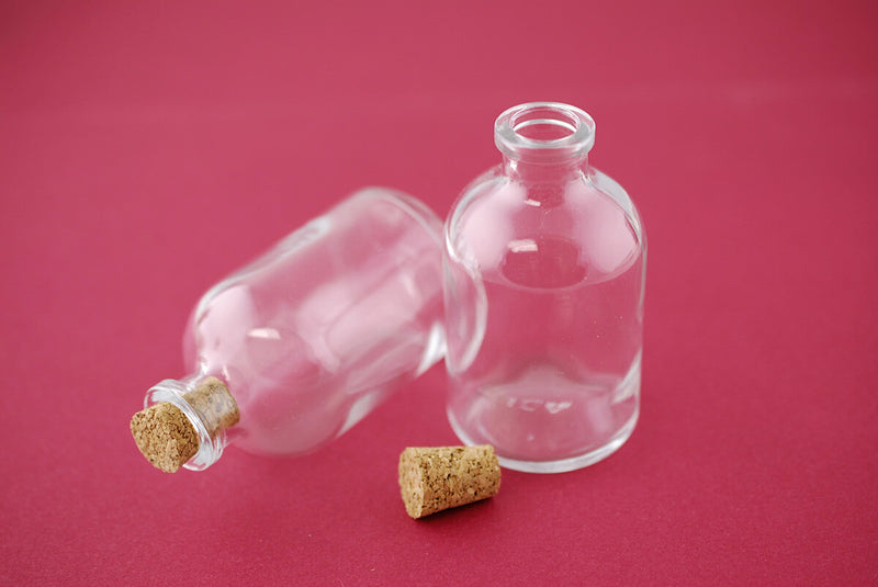 mini glass bottles with cork 30ml 3in pack of 10