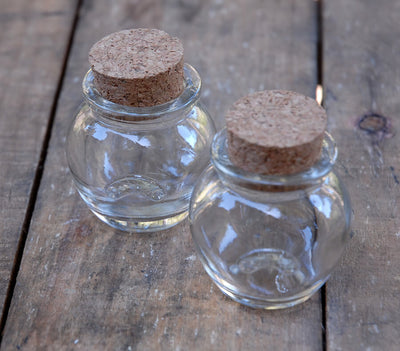 24 Mini Honey Jars with Cork Tops 1.2oz