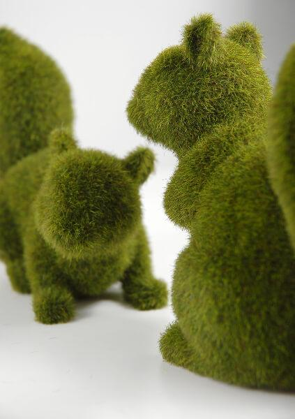 moss squirrels set of 2