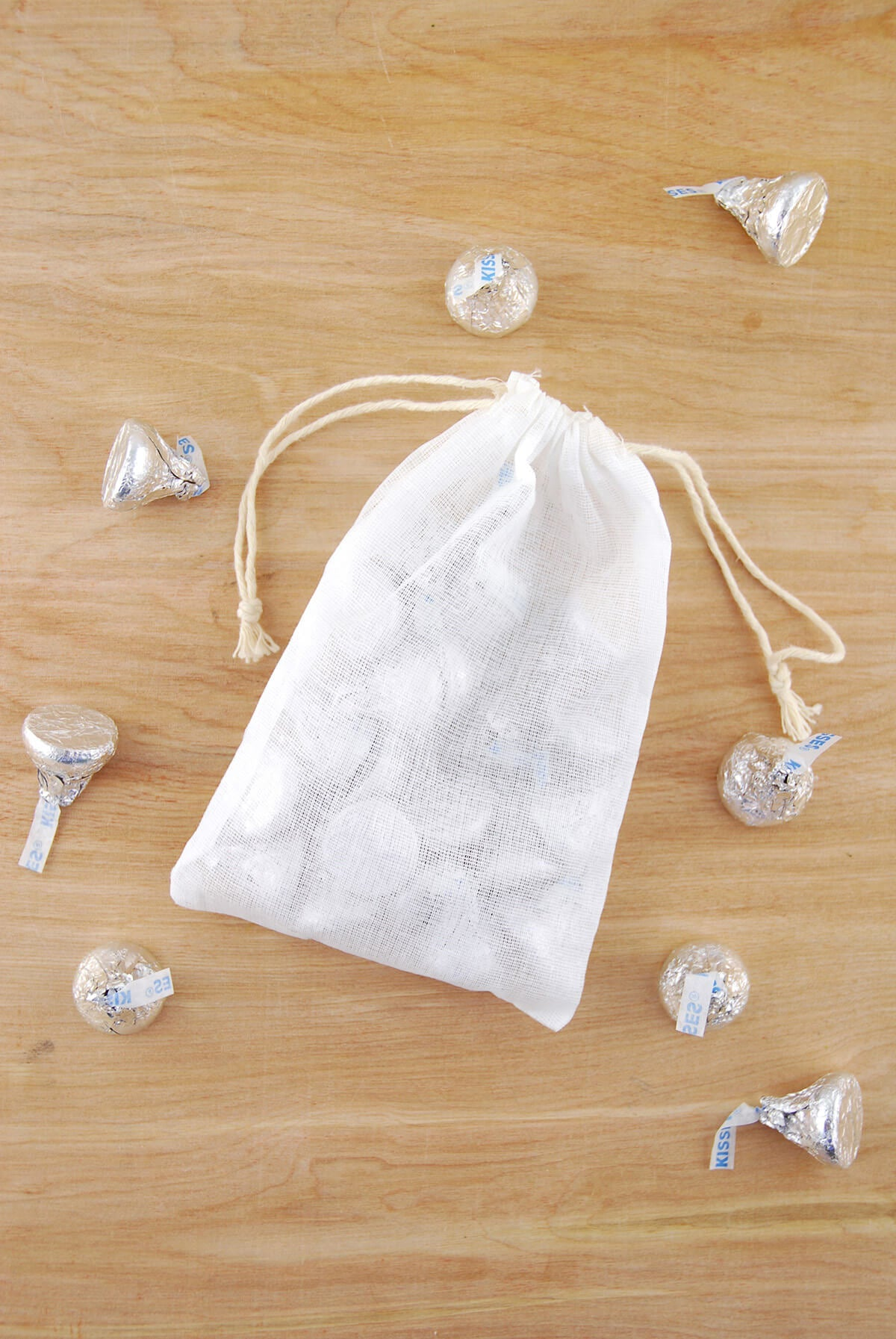12 Cotton 4x6 Drawstring Favor Bags