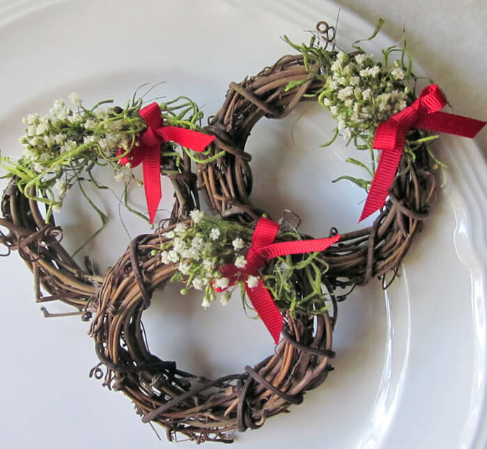 natural grapevine wreath napkin rings 3 inch pack of 12