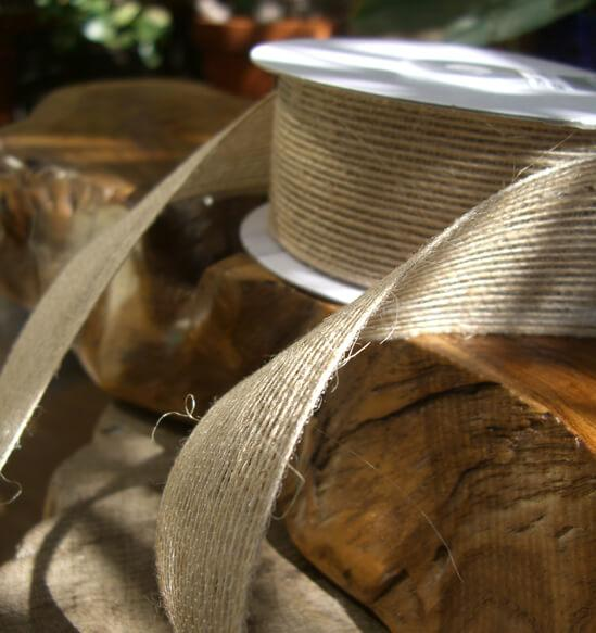 "Natural Jute Ribbon 1.5"" x 10yds"