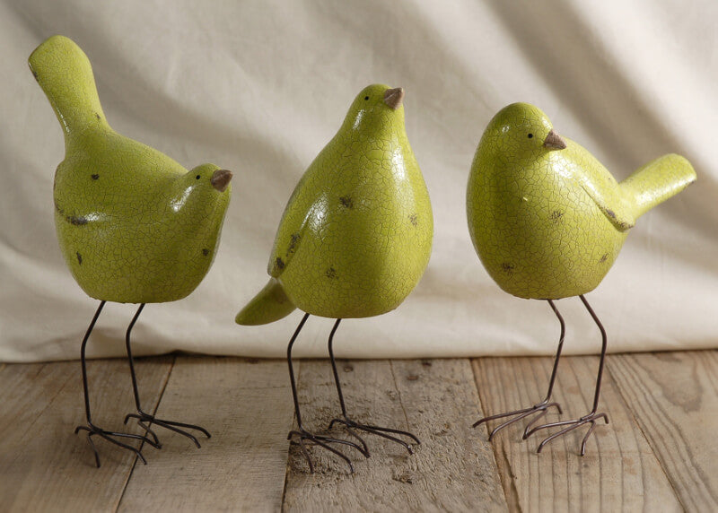 3 Chartreuse Green Nellie Birds