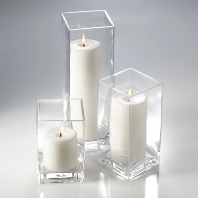 Richland Pillar Candles & Eastland Square Holders Set of 3