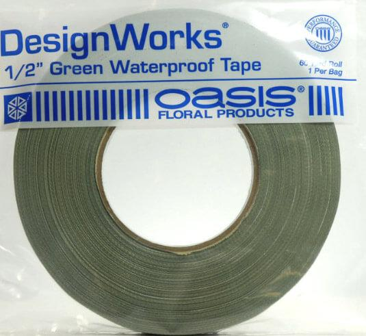 oasis green waterproof tape 1 2 x 60 yard green wet foam tape
