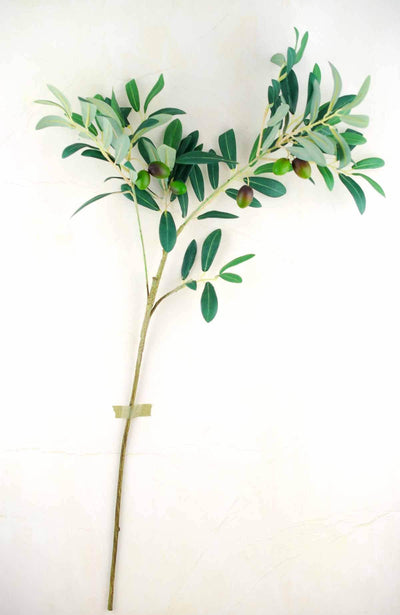 Olive Tree Branch Green 28in Artificial