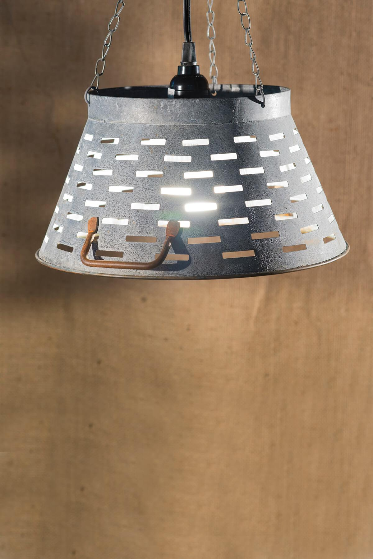 zinc 11 inch olive tub lampshade