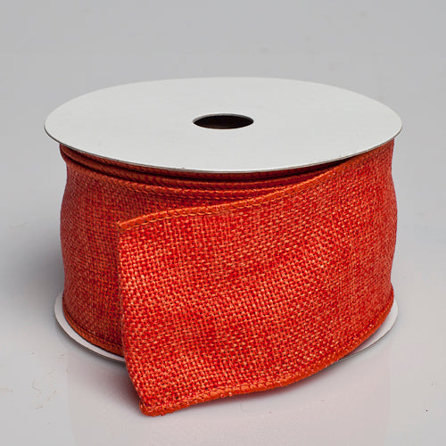 "Richland Burlap Ribbon with Wire Orange 2.5"" x 10 Yards"