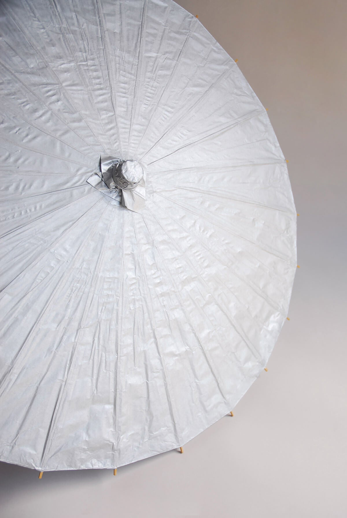 Paper Parasol Silver 32in