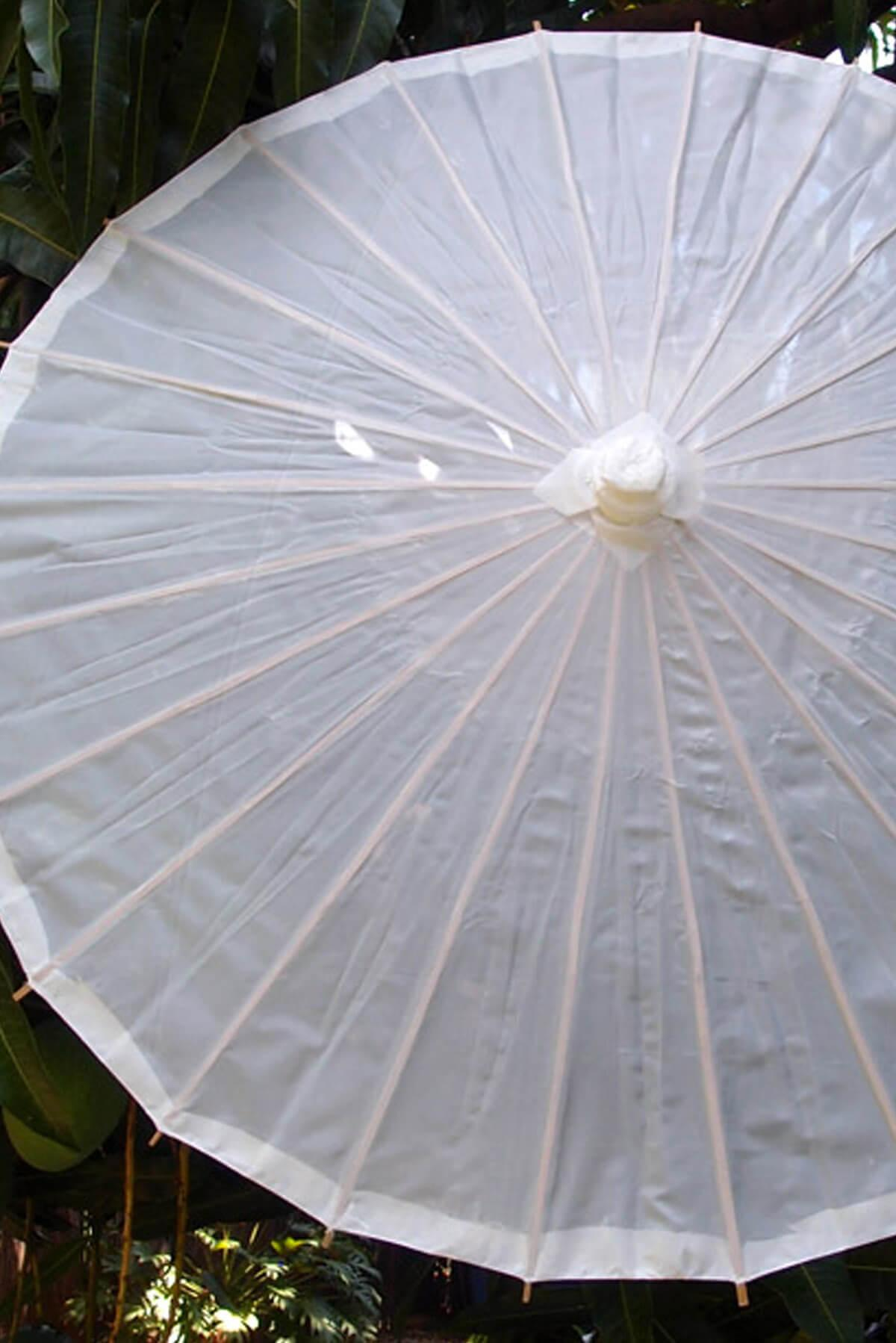 nylon parasol white 32in