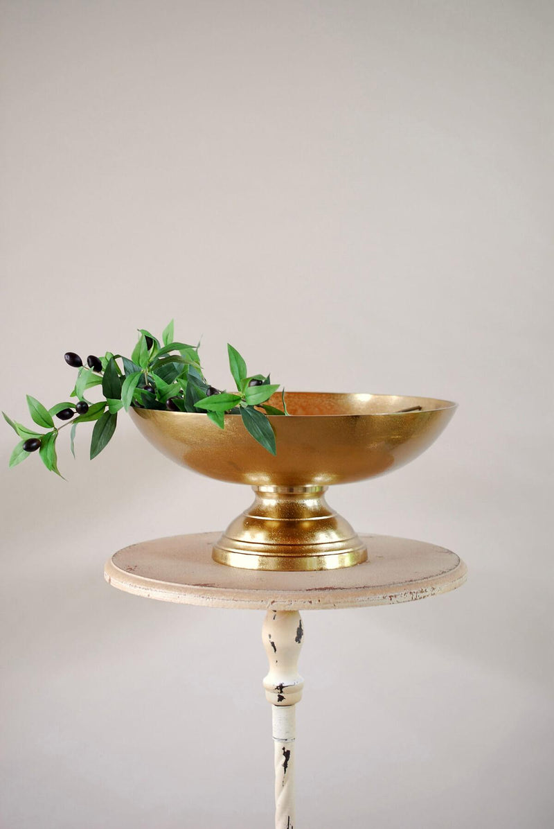 Pedestal Oscar Gold Bowl 16x7.5in