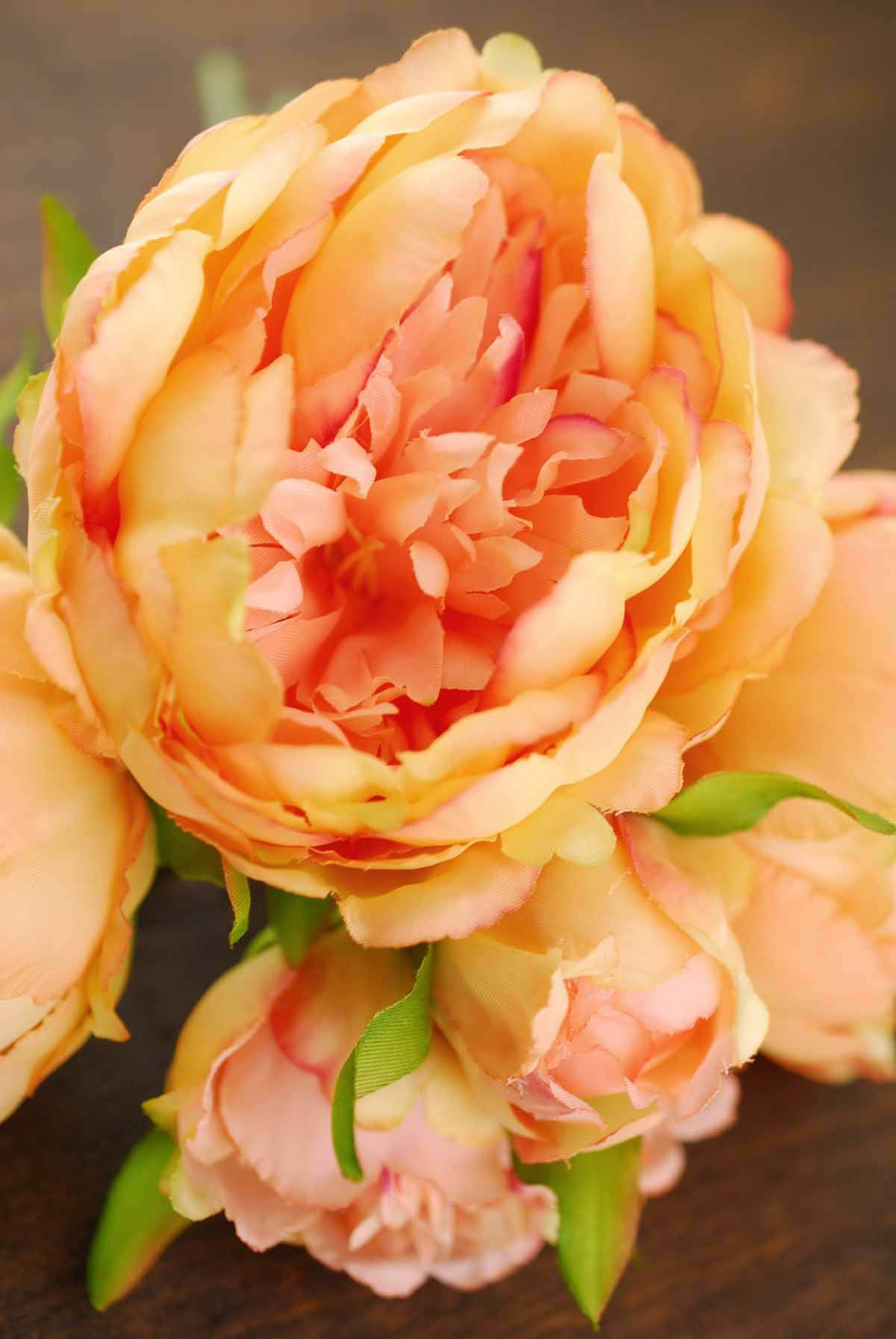 Coral Orange Peony Bouquet Save On Crafts