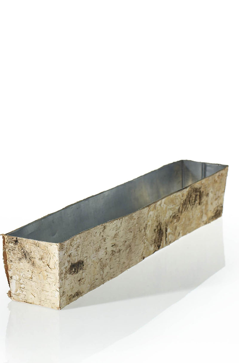 "Long 24"" Birch Bark Planter"