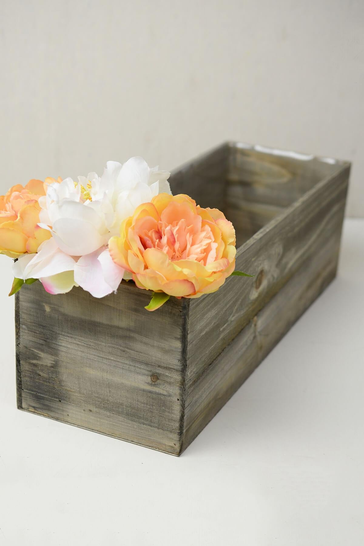 woodland planter box with liner 18 x 6 5