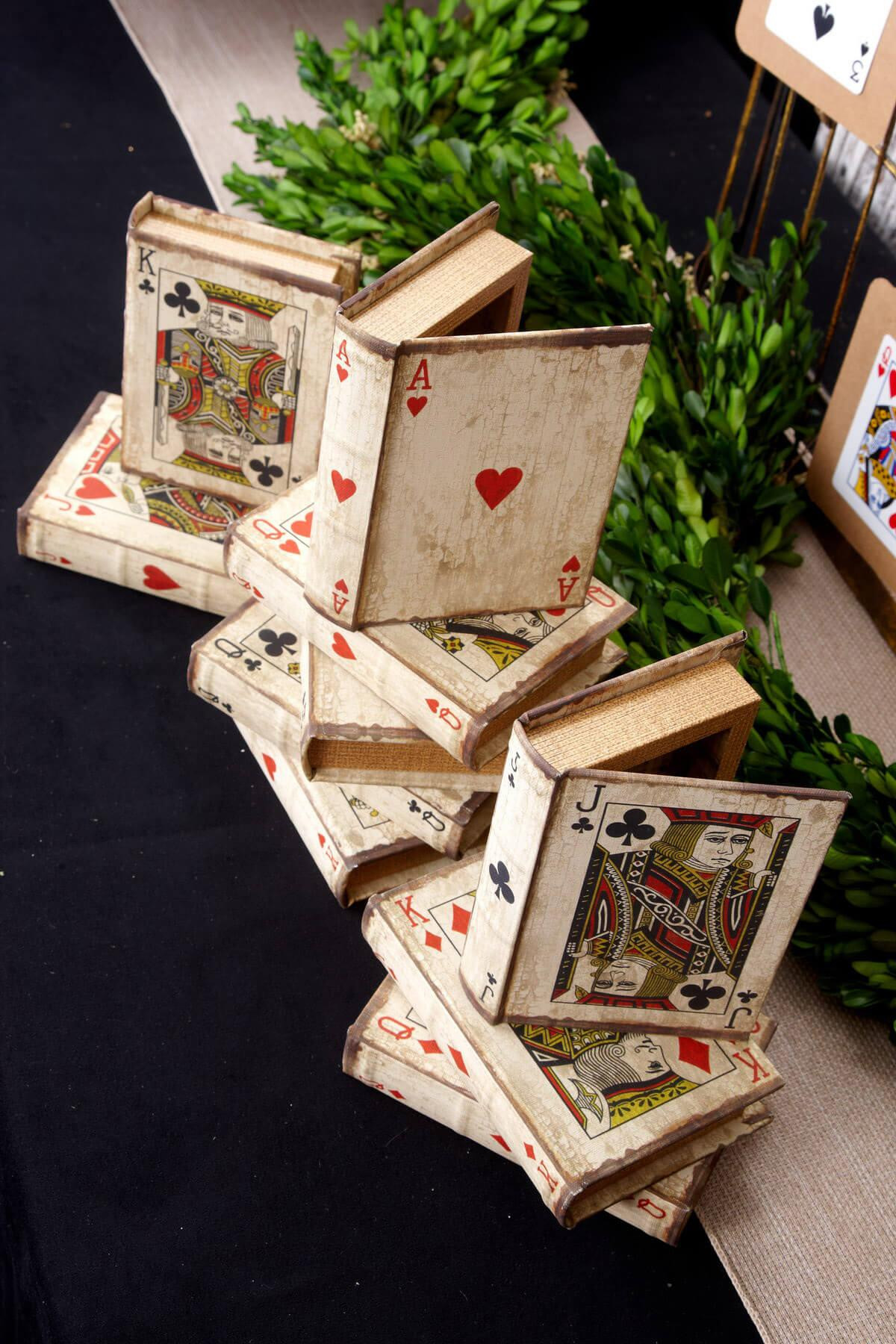 vintage playing card boxes set of 16 3 5 x 5