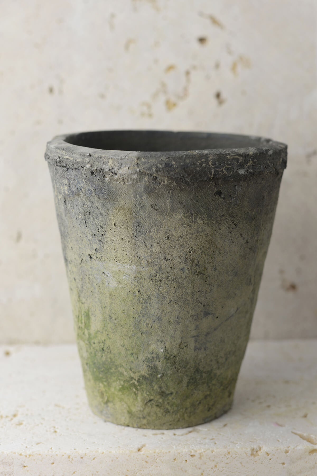 Homespun Cement Pot  5-3/4 Inch