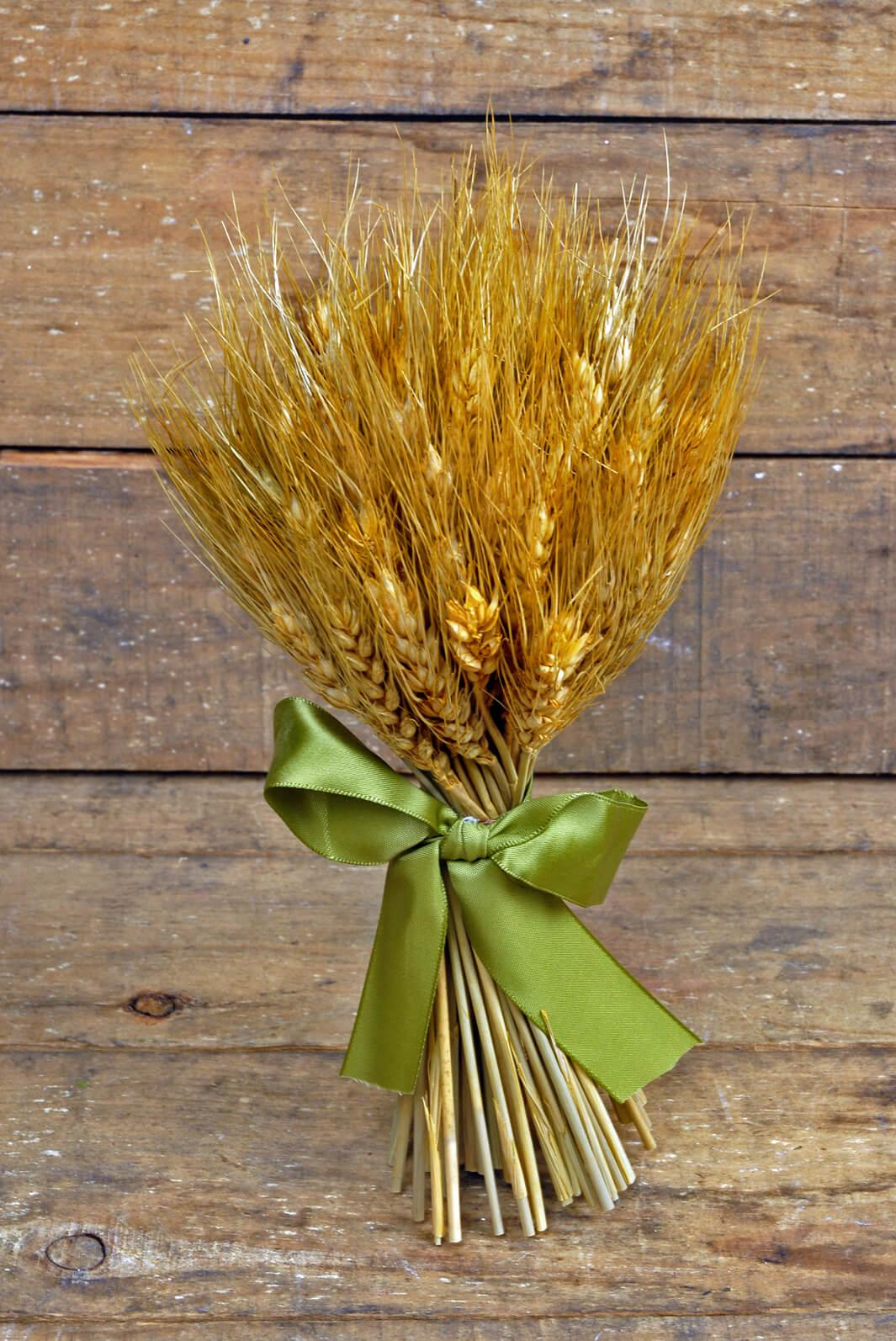 natural preserved wheat bouquet 9 5in