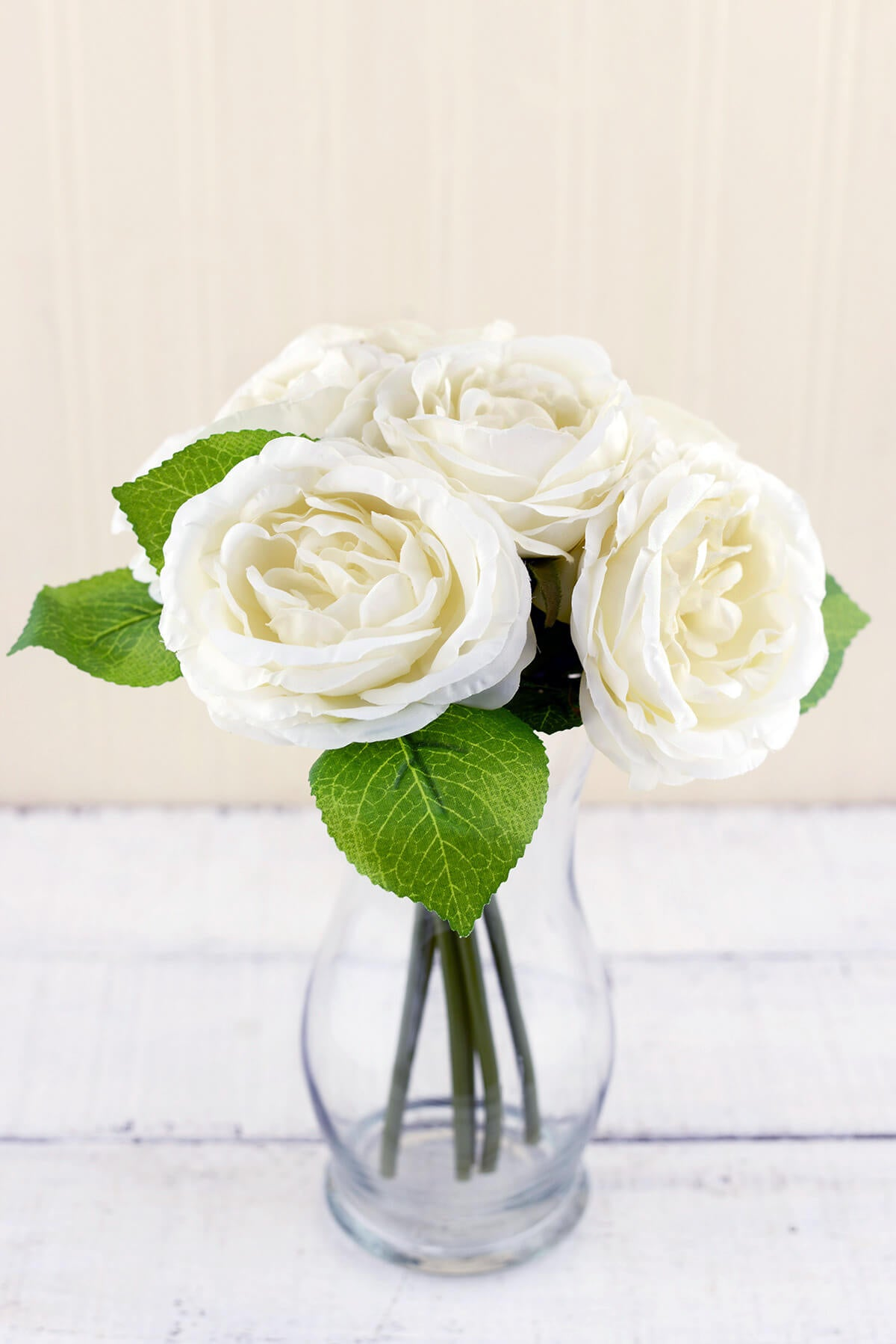 Cream White Silk Rose Bouquet