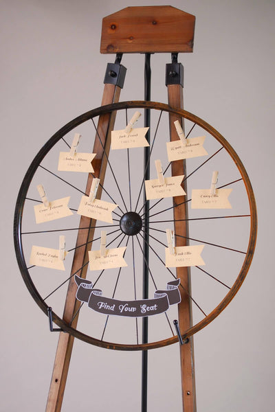 "Place Card Display Bike Rim  24"" Card Holder"