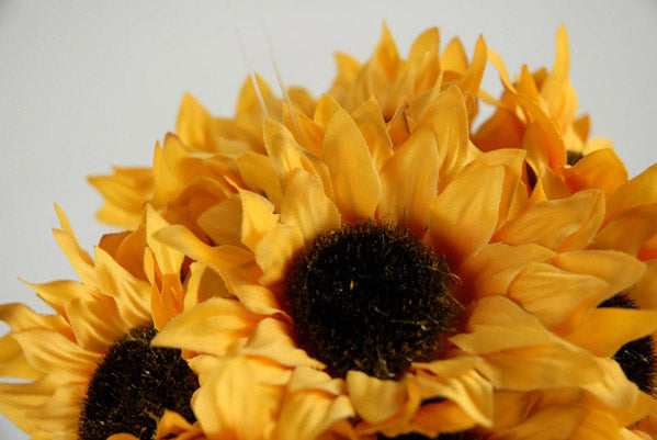 Sunflower Ball with Hanger  Yellow 7in