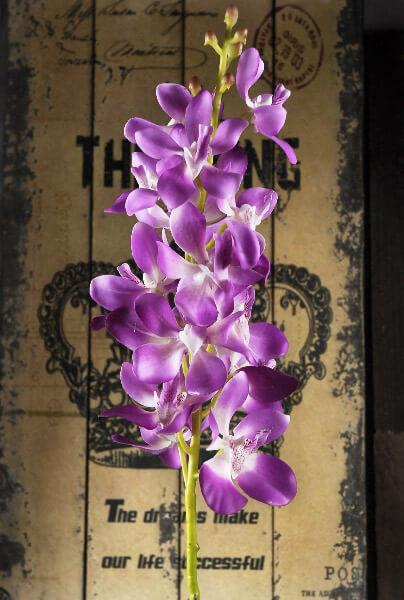 silk orchids lavender 28in