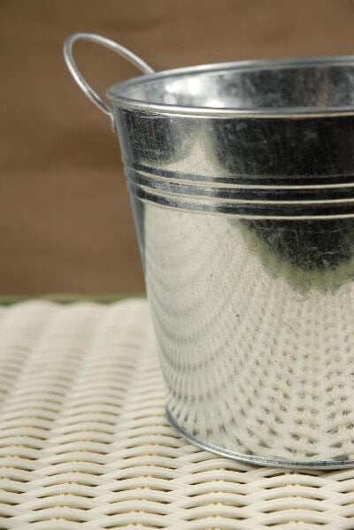 Galvanized Metal Pail with Liner 5.5in