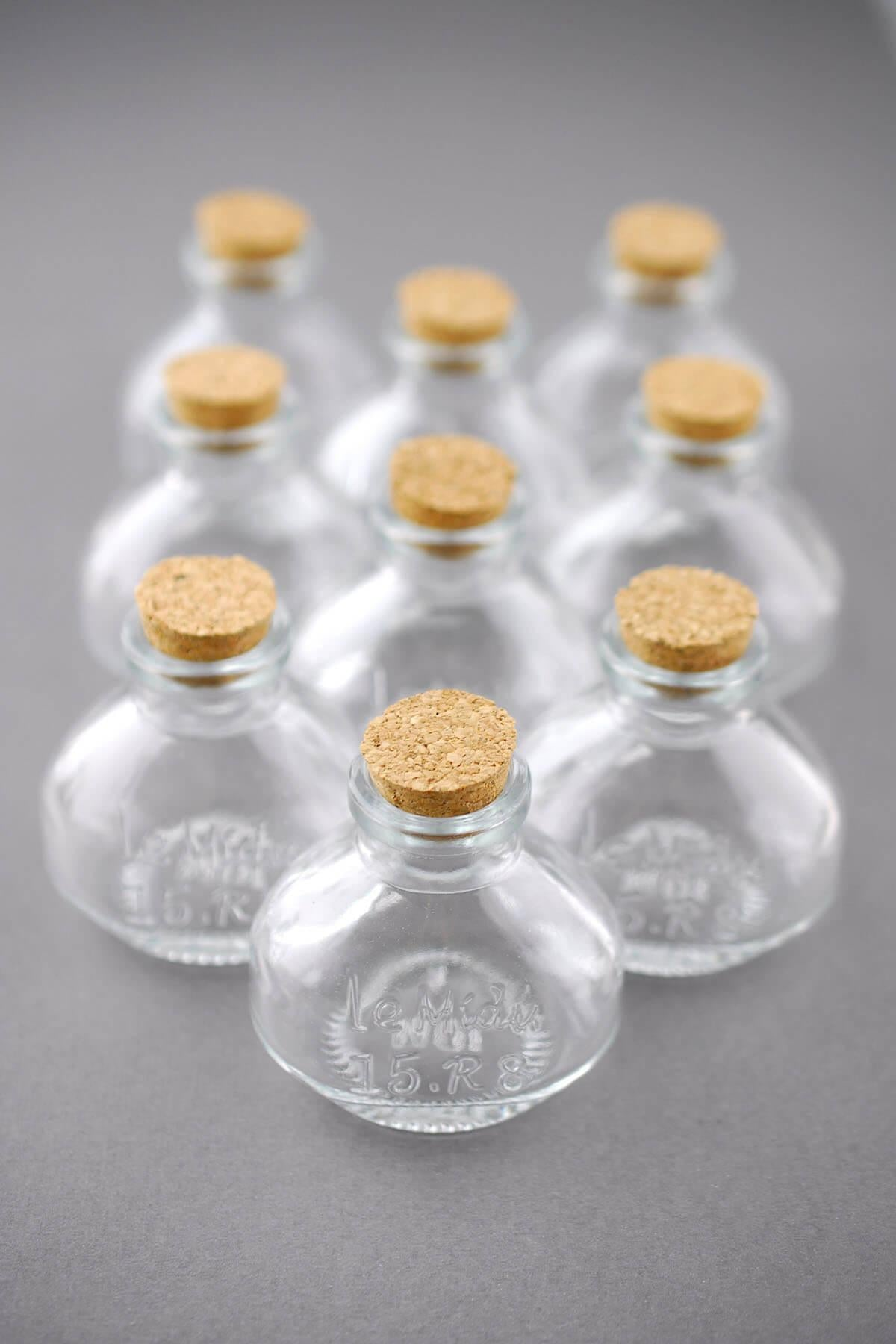 small glass bottles with cork 40ml 2 25in pack of 10