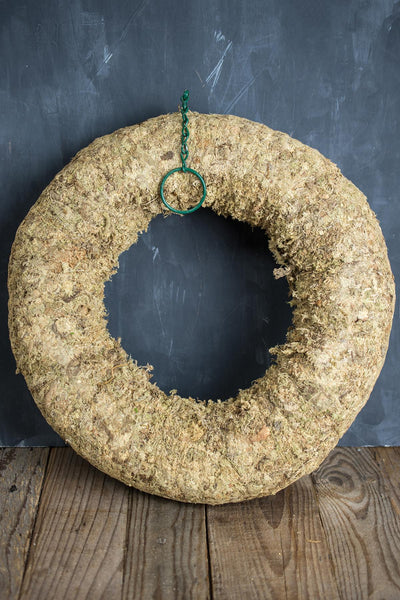 Sphagnum Moss Living Wreath 16 Inch
